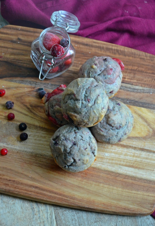 muffins-vegetaliens-fruits-rouges-chocolat