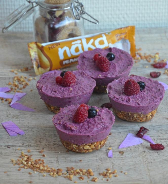 mini cheesecake fruits rouges noix de cajou