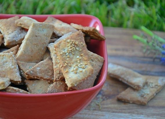 crackers végétaliens au sésame