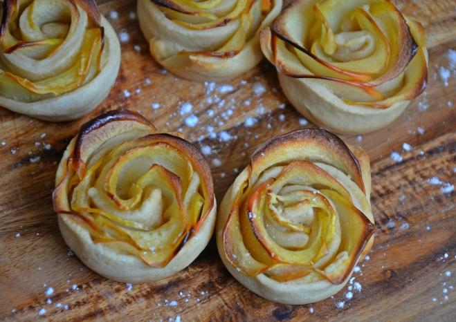 roses de pommes vegan