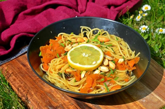 spaghettis façon thaï vegan