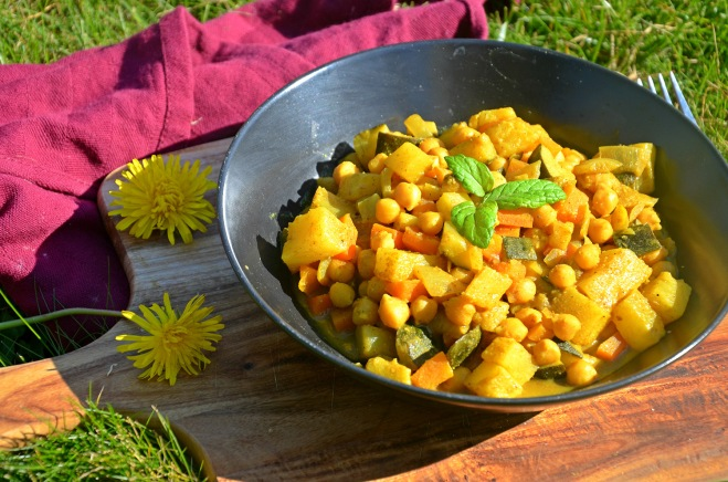 curry de pois chiches aux légumes ananas coco