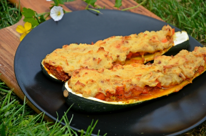 courgettes farcies vegan curry légumes